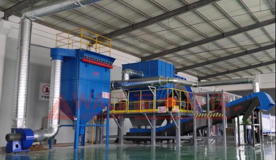 瓦力环保大件垃圾处理系统在江苏投入运行